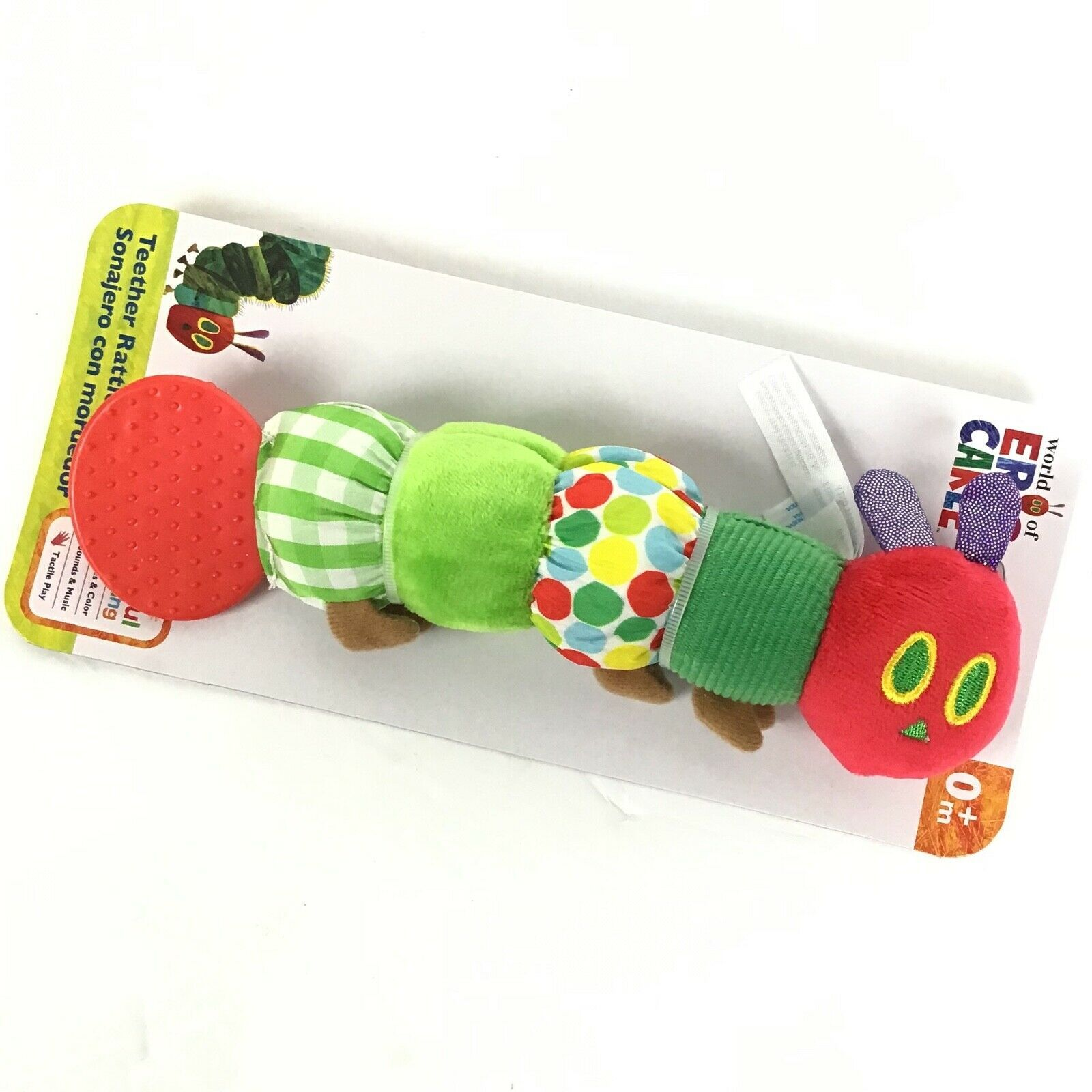 Very Hungry Caterpillar  Eric Carle Infant Baby Teether Rattle Crinkle C1-2