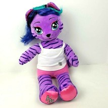 Build a Bear Workshop Honey Girl Purple Tiger Cat Teegan Stuffed Plush 1... - $22.77
