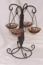 PartyLite Global Fusion Tealight Tree Rare Retired - $21.73