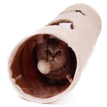 Pet Tunnel With Ball Cat Play Tunnel Funny Cat Long Tunnel Kitten Play T... - $23.33