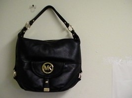 Authentic Micheal kors shoulder bag fulton black tote NS leather new  - $193.00