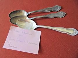 Set of 3 Holmes & Edwards 1893 Tea Spoons Pearl Fenwick Lancaster - $19.80