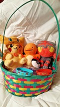 POKEMON EASTER BASKET BUNDLE - 7 Great Gift Items Plush Figures and More... - $29.67