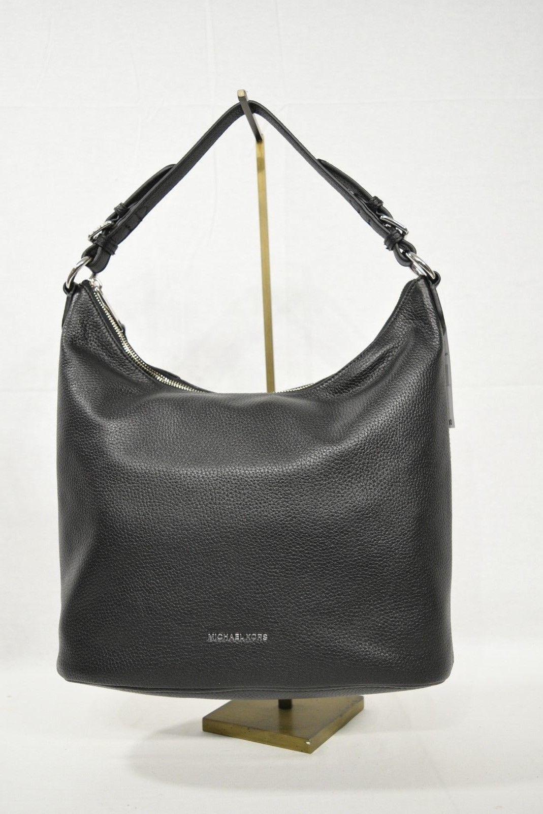 551ec932a2 NWT Michael Kors Lupita Large Leather Convertible Hobo   Shoulder Bag in  Black