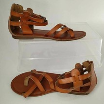 American Eagle Outfitters Womens Gladiator Sandals Brown Buckle Back Zipper 7 - $15.44