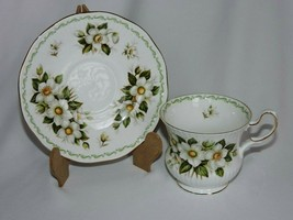 Rosina Queens Footed Tea Cup Saucer Set Christmas Rose December Special ... - $25.49