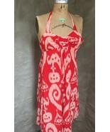 Anthropologie Summer IKAT HALTER DRESS 66170 MAEVE Womens 4 Red Cotton L... - $82.15