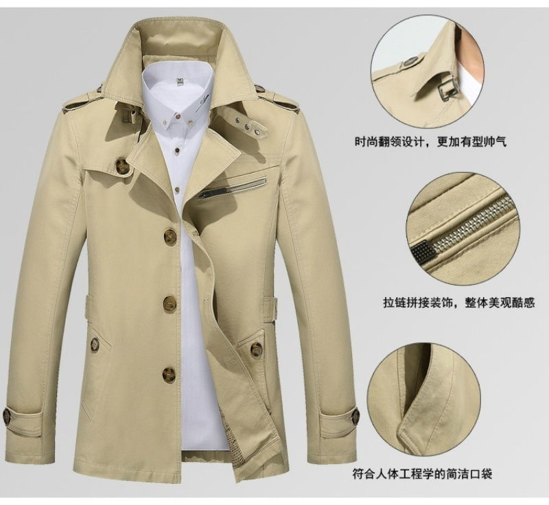 Men's Fur Lining Thick Coat & Jacket Stand Collar Outerwear