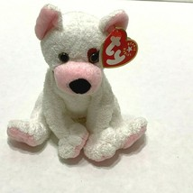 TY BEANIE BABIES CUPID  WHITE DOG PINK RIGHT EYE HEART 2001  - $2.96
