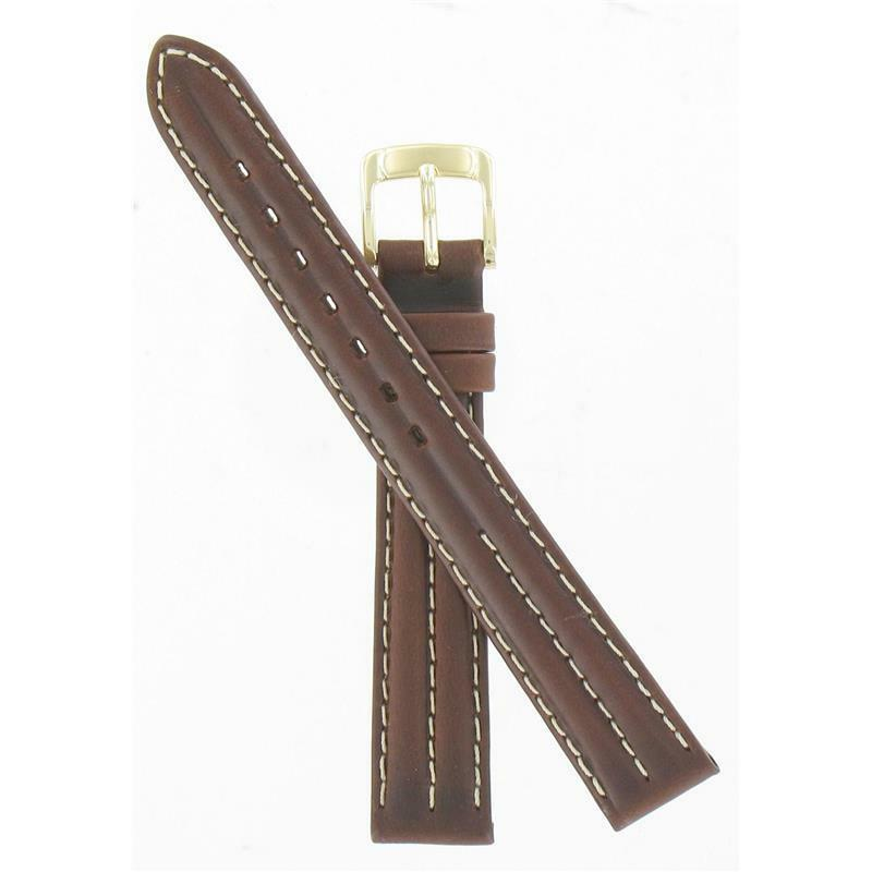 Primary image for Speidel 14mm Brown Alpine Gold Tone Buckle NIB Watch Band AU08824N