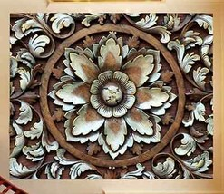 3D Carving - blumen 3545 Fototapeten Wandbild Fototapete BildTapete Familie DE - $52.21+