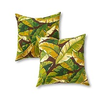 Greendale Home Fashions 17 in. Outdoor Accent Pillow set of 2, Palm Green - $38.05