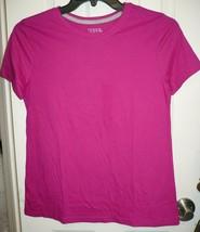 Time And Tru Women's Crew Neck T Shirt X-LARGE (16-18) Lolita Pink Short... - $11.87