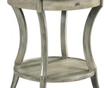 Side Table Woodbridge Gray Sahara Round Drawer Curved Legs