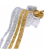 Ribbon Trim Wedding Party 1yard 1cm-3cm Sewing Crystal Motif Hot Fix Rhi... - $4.10+