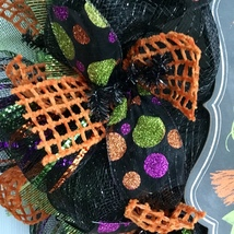 Witches Coffee House Stop By For A Brew Halloween Handmade Deco Mesh Wreath image 3