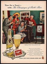 Vintage magazine ad MILLER HIGH LIFE beer from 1949 Miller girl and bott... - $12.99