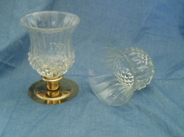 Homco Clear Cathedral Diamond Sconce Votive Cups - Wide - Home Interiors - $10.00
