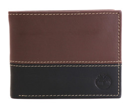 Timberland Men's Genuine Two Tone Leather Credit Card Billfold Commuter Wallet image 2