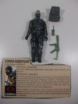 GI Joe ARAH Vintage Cobra Saboteur FIREFLY v1 Complete Hasbro 1984 w fil... - $86.39