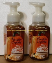 Bath Body Works PUMPKIN CUPCAKE Gentle Foaming Hand Soap 2 Bottles - $11.00
