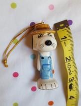 1980's Peanuts Snoopy's Brother Spike Farmer Ceramic Christmas Ornament vtg - $63.94