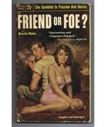 ORIGINAL Vintage 1954 Popular Library Paperback Friend or Foe GGA - $19.79