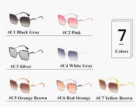 Sunglasses 2017 Women Oversized Aviation Square Female Sun Glasses Mirro... - $12.98