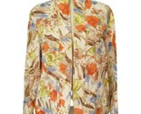 Coldwater Creek Jacket Shirt Blazer Size 10 All Cotton Watercolor Textured Open