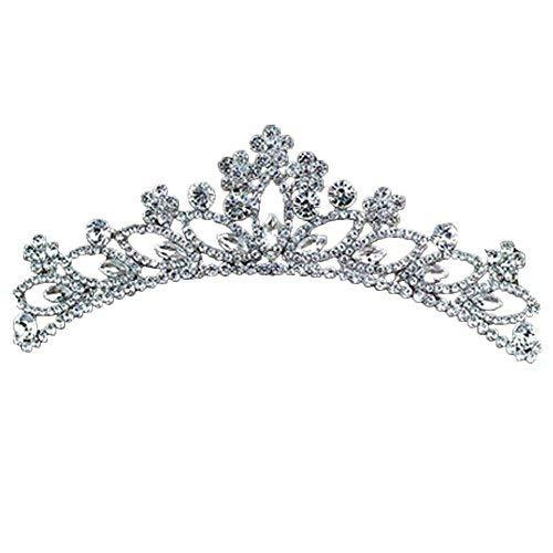 Fashional Dazzle Sliver Alloy Wedding Crown Headband Hair Comb