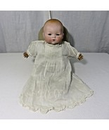 "Antique AM Germany Armand Marseille Dream Baby Bisque Doll 341 15"" Cloth... - $126.19"