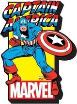 Captain America Character Image and Name Logo Chunky 3-D Die-Cut Magnet ... - $5.94