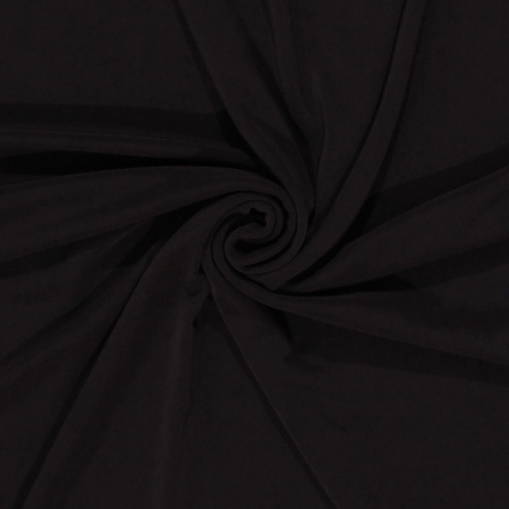 Slinky 4-Way Stretch Polyester Spandex Brown Fabric by the Yard D446.07 - $8.99