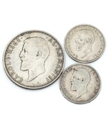 Romania Lot of 3 Silver Coins 1912 - 1914 2 Lei & 50 Bani F - XF Condition - €30,46 EUR