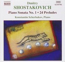 Piano Sonata 1 / 24 Preludes [Audio CD] SHOSTAKOVICH,DIMITRI - $6.93
