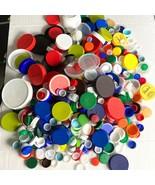 Lot 700+ Assorted Color Size Clean Plastic Bottle Caps Lids Arts Crafts ... - $39.59