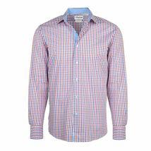 Berlioni Italy Men's & Boys Premium Yarn Dyed Luxe Cotton Dress Shirt Modern Fit image 10