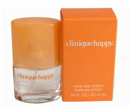 NEW LOT 2 btls Clinique happy perfume parfum spray 0.5 oz AND .14 oz tra... - $13.55