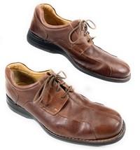 Johnston & Murphy Oxford Derby Split Toe Leather Brown Shoes Men's 12M - $47.43