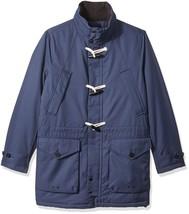 $298 Nautica Men's Weather-Resistant Hooded Toggle Coat, Mood Indigo, XL - $138.59