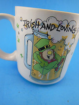 Vintage St Patricks Day Irish & Loving It Mug Cup Russ Berrie Korea - $8.90