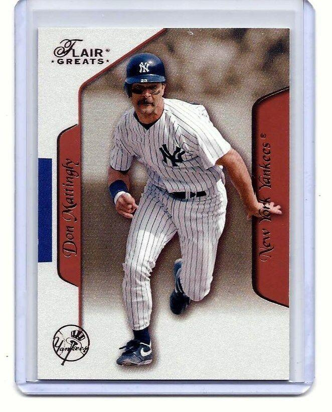 DON MATTINGLY - NEW YORK YANKEES - 2003 FLEER - FLAIR GREATS - CARD  #81