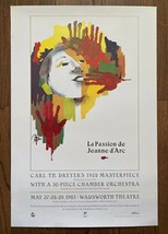 *Carl Th. Dreyer's THE PASSION OF JOAN OF ARC (1928) Filmex Poster Beaut... - $75.00