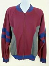 McGregor Vintage 90s Retro Men's Track Jacket Size L Maroon - $37.61