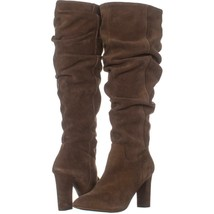 Franco Sarto Artesia Pointed Toe Slouch Knee High Boots 163, Light Brown Suede, - $82.55