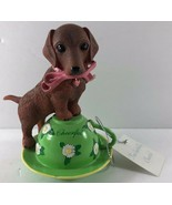Dachshunds With Personali Tea Collection Numbered Cup CHEERFUL Figurine - $19.79