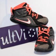 Nike 9C toddler LeBron James XII Black / Crimson Red Lace Up **Crawling ... - $18.99