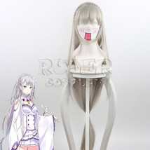 Re Life in a Different World From Zero Emilia Cosplay Long Full Wig 120cm - $25.99