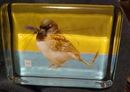 Marjolein Bastin by Hallmark Glass Paperweight Bird design - $7.99