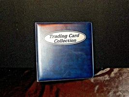 Blue Trading Card 3 Ring Collection Album AA19-1444 Vintage image 4